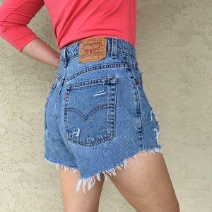 Vintage Levi's High Waisted Denim Jean Shorts